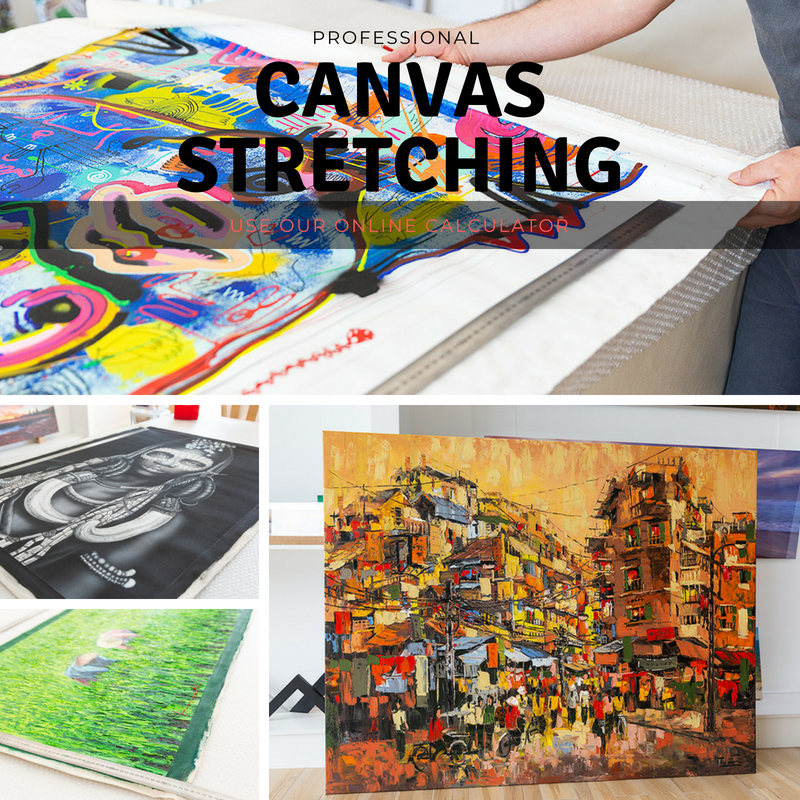 Affordable Canvas Stretching Service