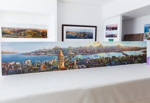 Turkish Cityscape Canvas Stretching